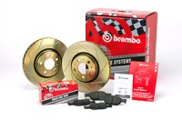 Brembo sada Sport line drážkované kotouče přední + desky MAZDA 121 (EU) -- 1.2i 16V ( - Automat) (BAJ) -- rok výroby 96-> (FS.018.062)